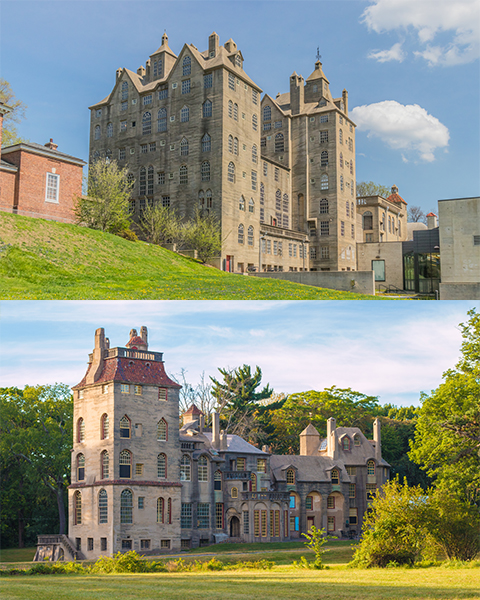 Collage of Mercer Museum and Fonthill Castle.jpg