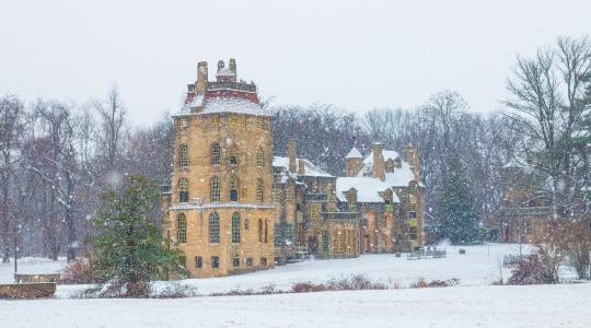 First Snow at Fonthill Castle